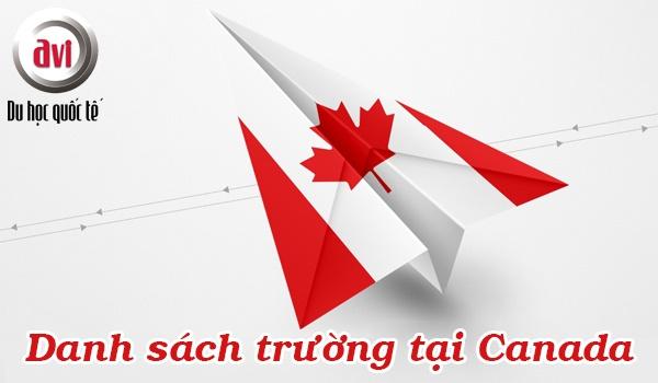 Danh sách trường tại Canada