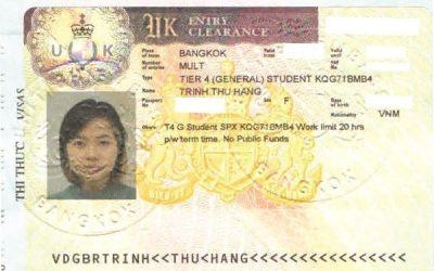 Visa Du học Anh: Trịnh Thu Hằng – Trường Westminster, Anh Quốc