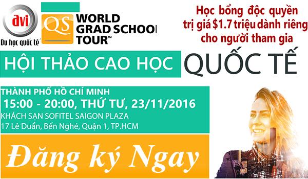 Gặp gỡ các trường đại học hàng đầu thế giới tại Hà Nội & Hồ Chí Minh trong tháng 11