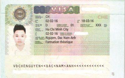 Visa Du Học Thụy Sĩ: Nguyễn Đắc Nam Anh – Học viện Swiss IMH, Thụy Sĩ