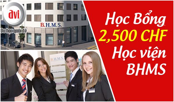 Cơ hội giành học bổng lên đến 57 triệu đồng từ Học viện BHMS Thụy Sĩ