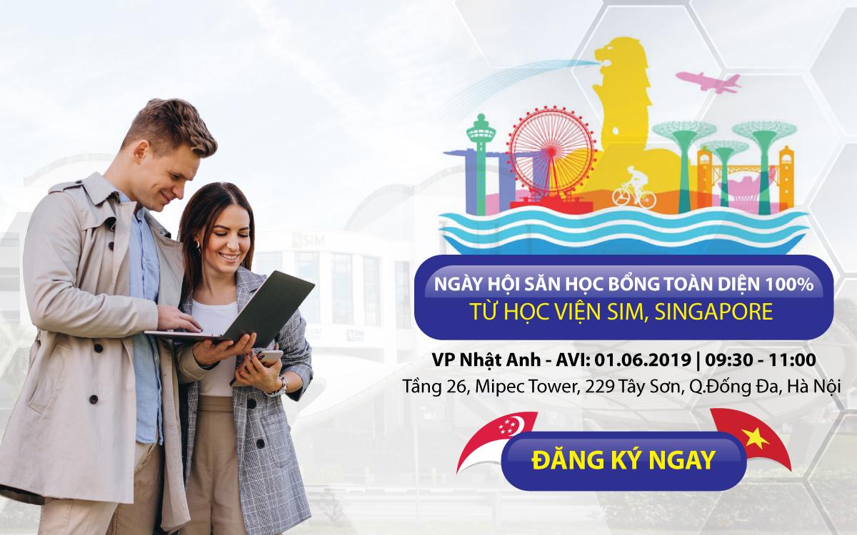 Ngày hội săn học bổng toàn diện 100% cùng học viện SIM, Singapore