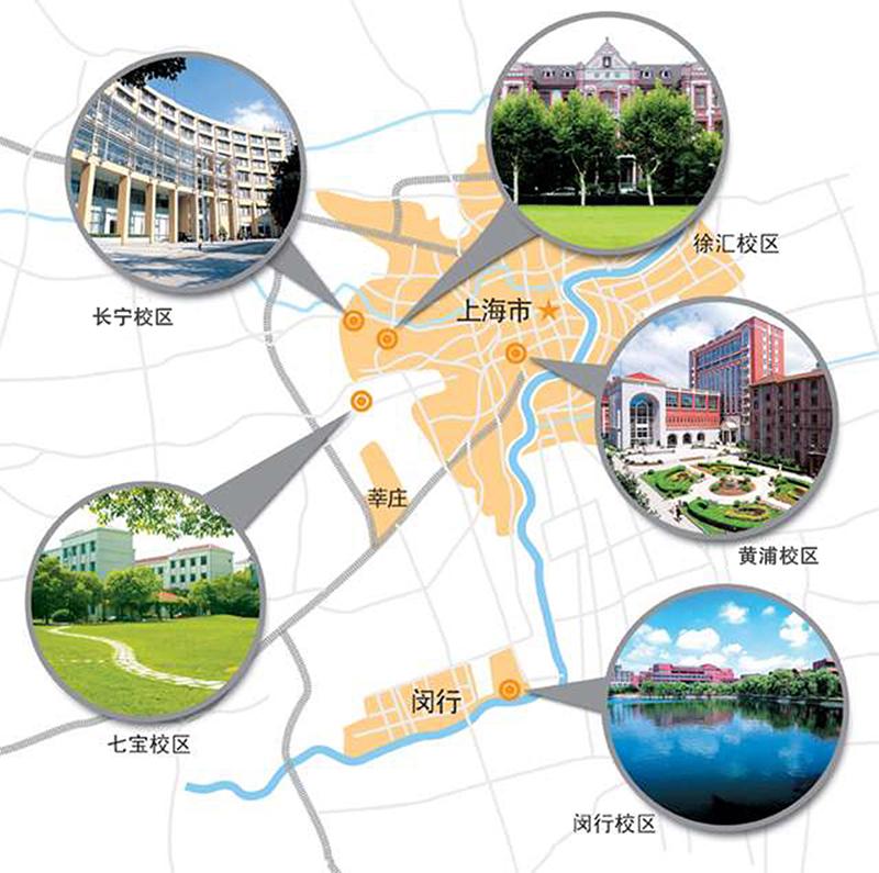 Đại học Giao Thông hiện có 5 cơ sở tại Thượng Hải