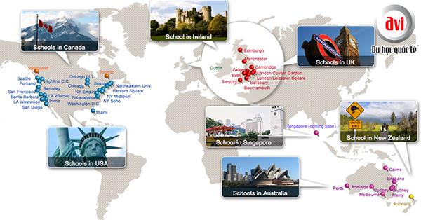 Các chi nhánh Kaplan International English trên thế giới