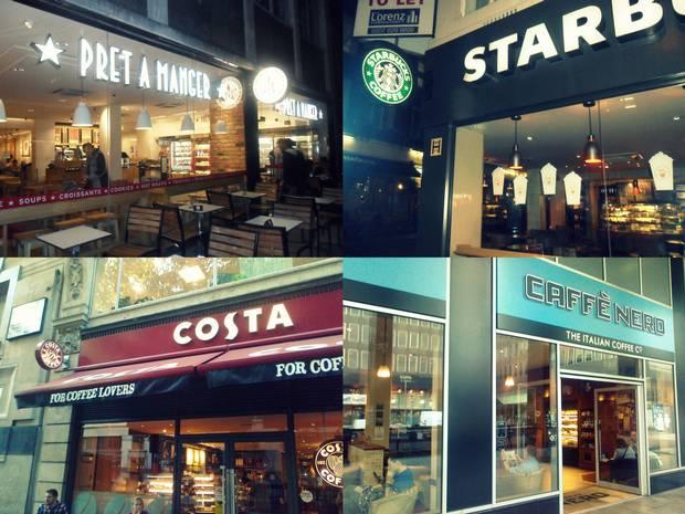 các nhãn hiệu coffee nổi tiếng tại Anh