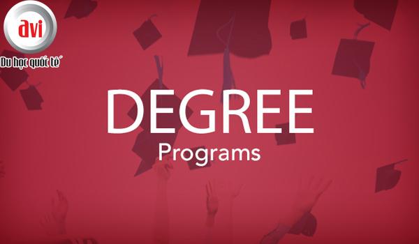 Chương trình cấp bằng (degree) được cung cấp ở nhiều bậc học