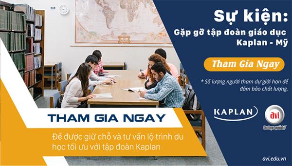 Tham gia sự kiện để nhận được lộ trình phù hợp nhất cùng tập đoàn Kaplan