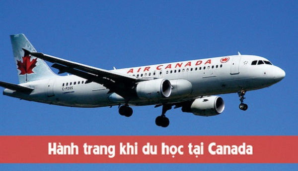 Đi máy bay du học Canada