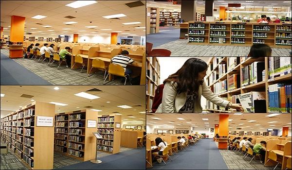 thư viện tại học viện SIM