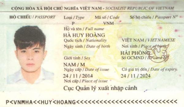 hộ chiếu hà huy hoàng