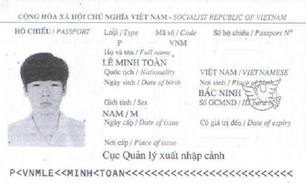 hộ chiếu lê minh toàn