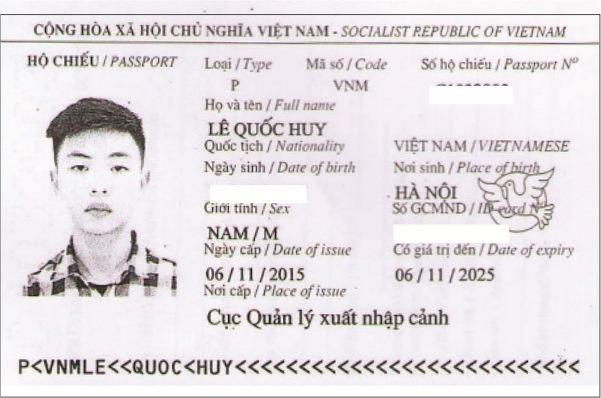 hộ chiếu lê quốc huy