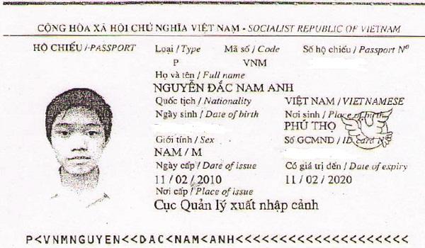 hộ chiếu nam anh