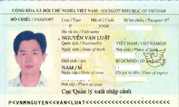 hộ chiếu nguyễn văn luật