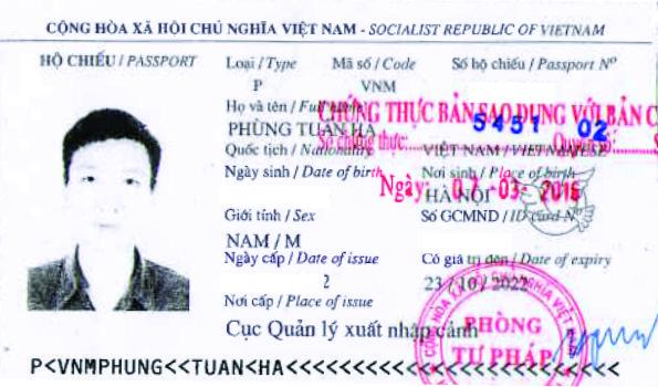 hộ chiếu phùng tuấn hà