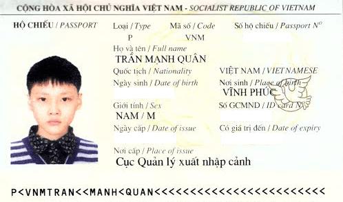 hộ chiếu trần mạnh quân