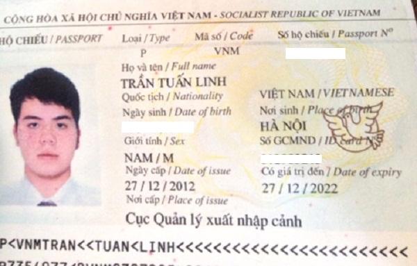 hộ chiếu trần tuấn linh