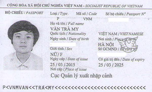 hộ chiếu văn trà my