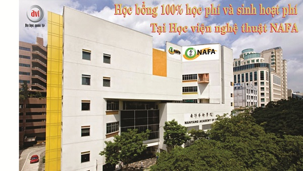 học bổng 100% tại trường nghệ thuật NAFA