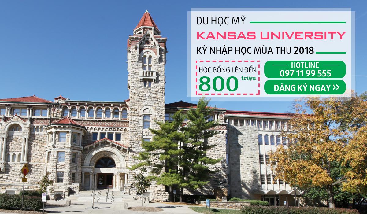 Học bổng lên tới $36 000 đại học Kansas