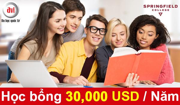 Học bổng & hỗ trợ hấp dẫn lên tới 30 000 USD/ năm từ Springfield College