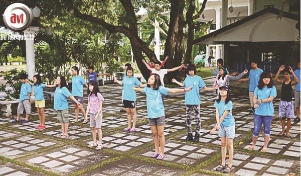 giờ thể dục tại trường anh ngữ cc
