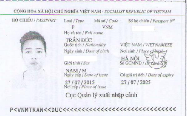 hộ chiếu trần đức