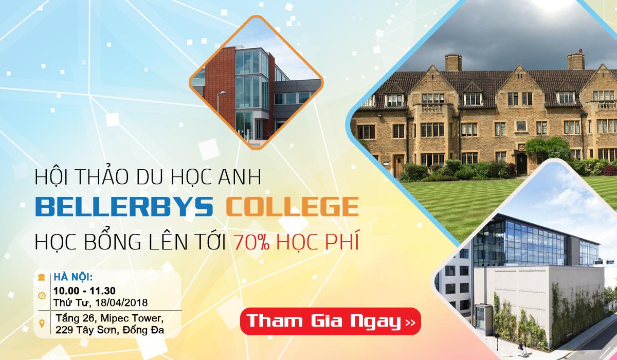 Học bổng Bellerbys College năm học 2018-2019