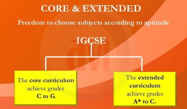 Sự khác biệt giữa IGCSE Core và IGCSE extended