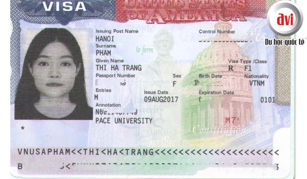 Visa du học Mỹ bạn Phạm Thị Hà Trang