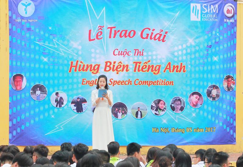 Phát động buổi trao giải hùng biện tiếng anh 2017 - English Speech Competition