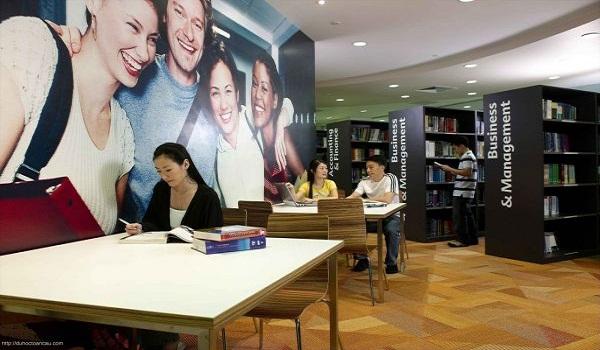 Thư viện tại học viện Kaplan Singapore