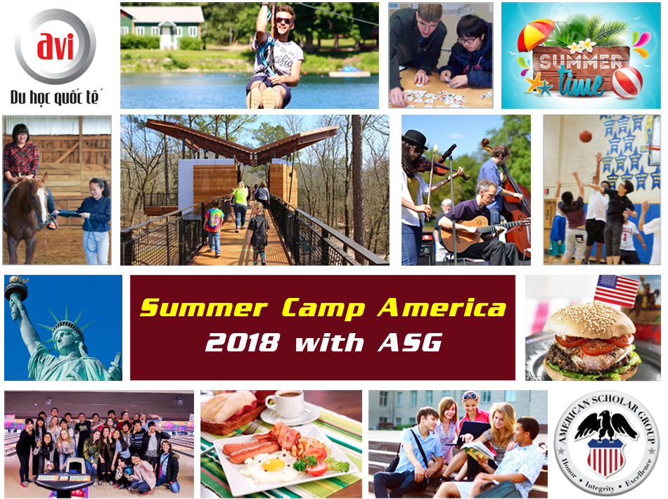 Chương trình trại hè Mỹ kéo dài 3 tuần cùng ASG năm 2018