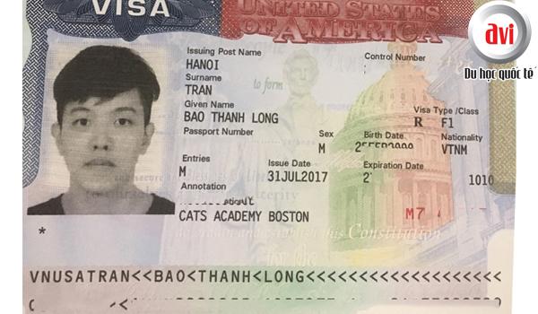 Visa du học Mỹ, Trần Thanh Long (CATS ACADEMY BOSTON)