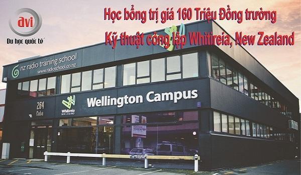 học bổng trường Kỹ thuật công lập Whitireia, New Zealand