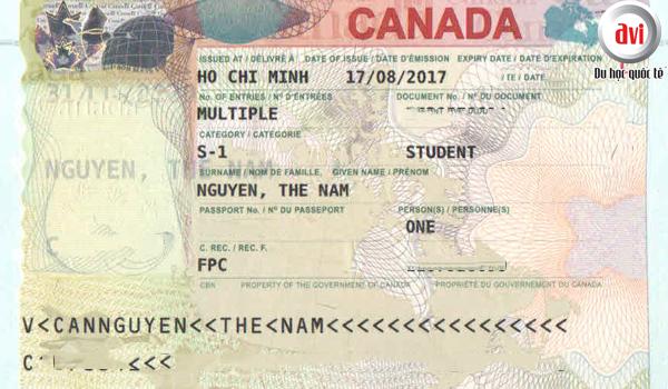 Visa du học Canada bạn Nguyễn Thế Nam