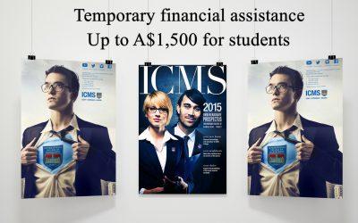 Gói hỗ trợ tài chính cho sinh viên trị giá 1500 AUD đến từ ICMS, Úc