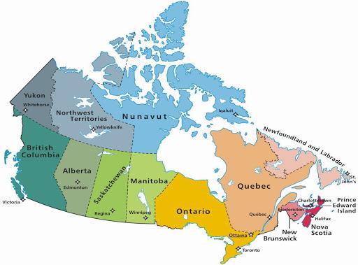 Bản đồ đất nước Canada